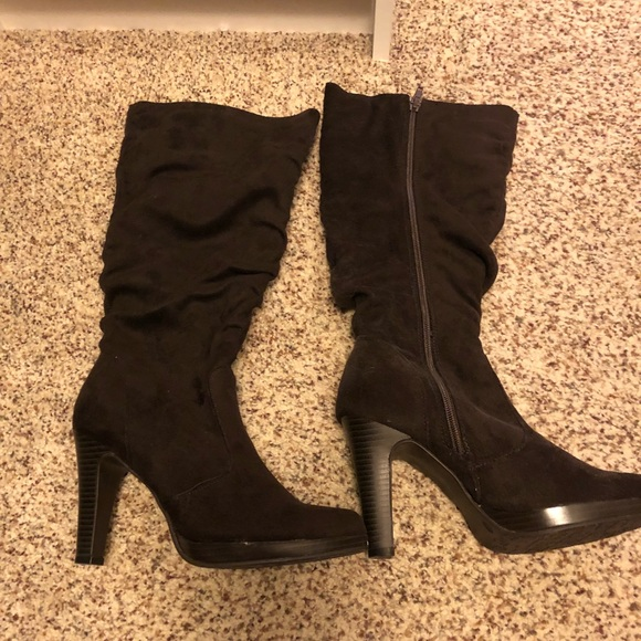 d8ccb1f59eee Shoes - Brown Slouch Mid-Calf Boot - Size 7